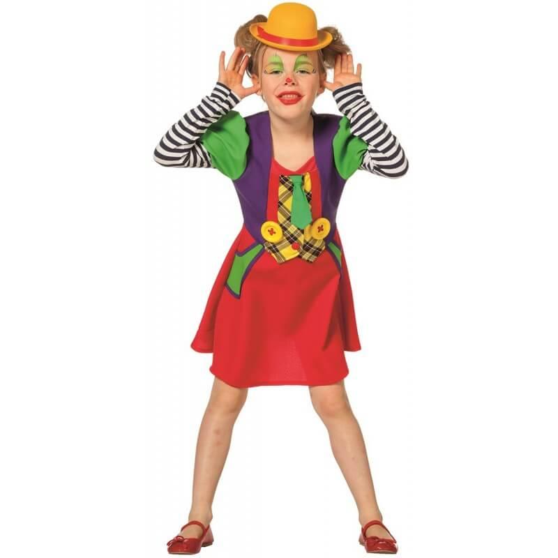 Clownmädchen Kinderkostüm